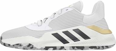 Adidas Pro Bounce 2019 Low - White-core Black-gold Metallic (EF0472)
