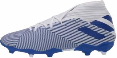 Adidas Nemeziz 19.3 Firm Ground - Ftwr White/Team Royal Blue/Team Royal Blue