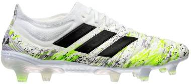 Adidas Copa 20.1 Firm Ground - Ftwr White Core Black Signal Green (G28639)