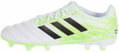 Adidas Copa 20.3 Firm Ground - Ftwr White Core Black Signal Green (G28553)