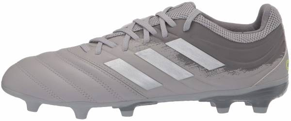Adidas Copa 20.3 Firm Ground - Gray Two F17 Silver Met Solar Yellow (EF8329)