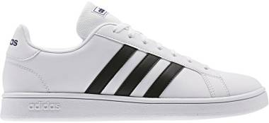 Adidas Grand Court Base - Bianco Ftwr White Core Black Dark Blue (EE7904)