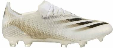 Adidas X Ghosted.1 Firm Ground - Ftwr White Core Black Met Gold Melange (EG8258)