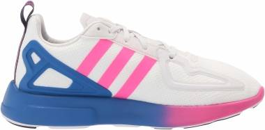 Adidas ZX 2K Flux - Crystal White / Shock Pink / Blue (FY0607)