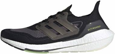Adidas Ultraboost 21 - Core Black / Silver Met. / Solar Yellow (FY0374)