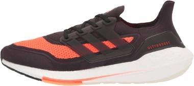 Adidas Ultraboost 21 - Carbon/Black/Solar Red (FZ2559)