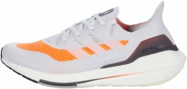 Adidas Ultraboost 21 - Dash Grey / Dash Grey / Screaming Orange (FY0375)