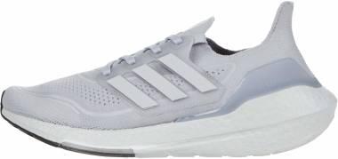 Adidas Ultraboost 21 - Halo Silver/Grey/Solar Yellow (FY0432)