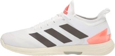 Adidas Adizero Ubersonic 4 - White/Black/Solar Red (FZ4880)