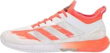 Adidas Adizero Ubersonic 4 - White/Silver Metallic/Solar Red (FZ4882)
