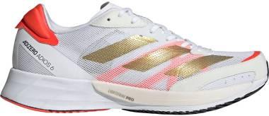 Adidas Adizero Adios 6 - Ftwr White / Gold Metalic / Solar Red (FY4074)