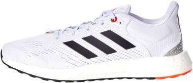 Adidas Pureboost 21 - Ftwr White / Core Black / Solar Red (GY5099)