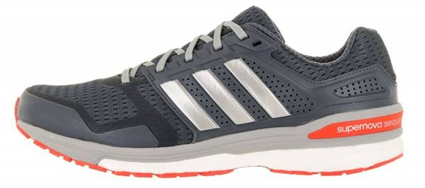 Adidas Supernova Sequence Boost 8 men onix/silver metallic/solar red