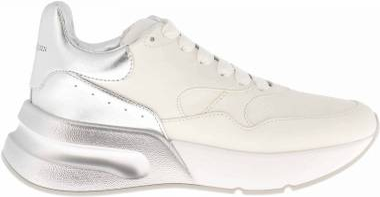 Alexander McQueen Oversized Sneaker - Optic White/Gold/Optic White/Gold/White