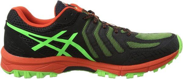 Asics Gel FujiAttack 5 men verde (green gecko/black/orange 8590)
