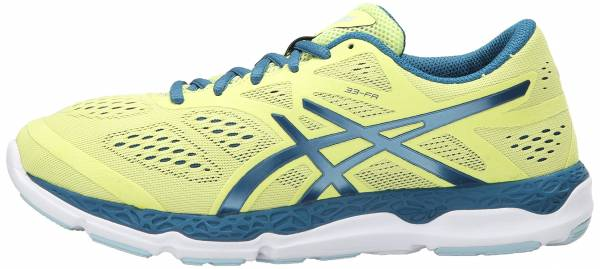 Asics 33-FA woman sunny lime/mosaic blue/white