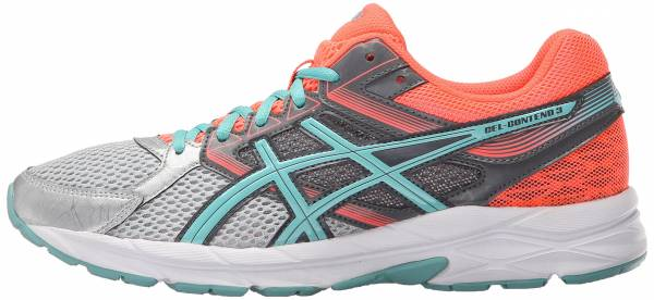 Asics Gel Contend 3 woman silver/pool blue/flash coral