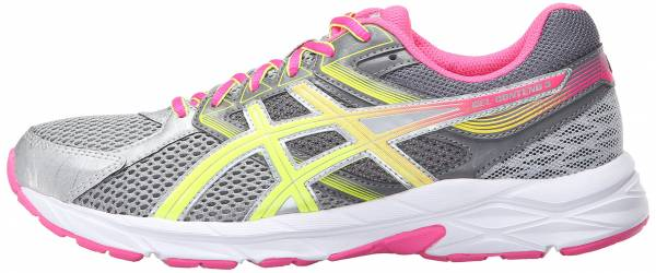 Asics Gel Contend 3 woman steel grey/safety yellow/hot pink