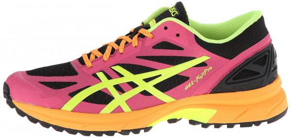 Asics Gel FujiPro woman onyx/flash yellow/hot pink