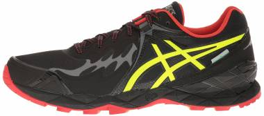 Asics Gel FujiEndurance Black/Safety Yellow/Vermilion Men