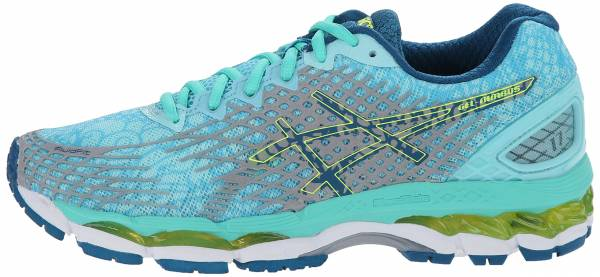 asics gel-nimbus 17 womens running shoes aqua splash