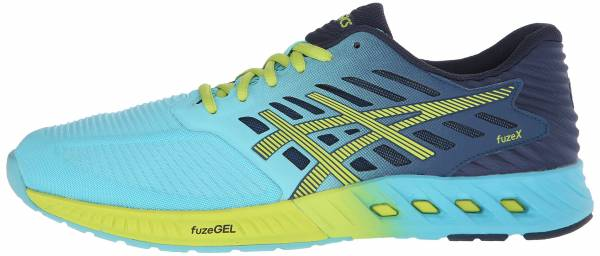 Asics FuzeX men turquoise/sharp green/ink