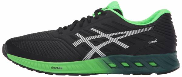 Asics FuzeX men black (black/silver/green gecko)