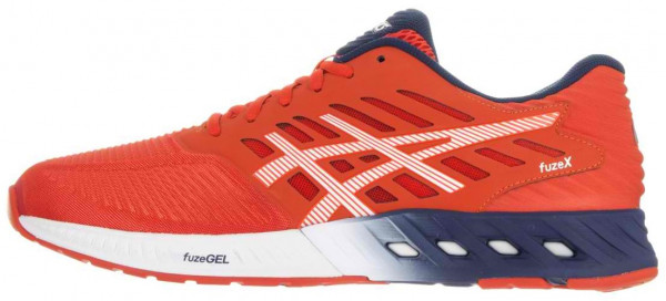 Asics FuzeX men tomato/white/estate blue