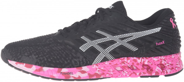 Asics FuzeX men black/white/pink ribbon