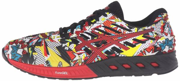 Asics FuzeX men black/vermilion/white
