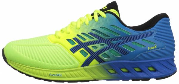 Asics FuzeX men safety yellow/black/electric blue