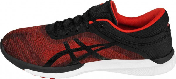 Asics FuzeX men vermilion/black/white