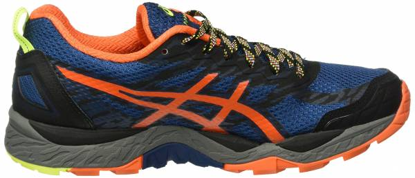 419b69de2338 Asics Gel FujiTrabuco 5 Azul (Poseidon Flame Orange Safety Yellow)