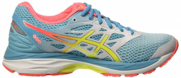 Asics Gel Cumulus 18 woman blue (white/safety yellow/blue atoll)
