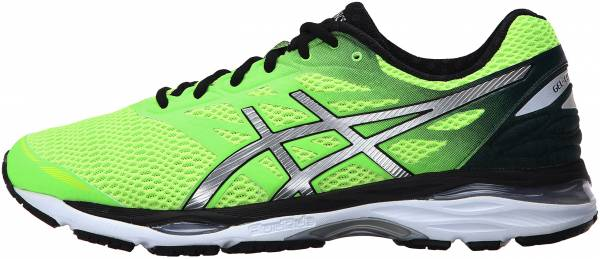 Asics Gel Cumulus 18 men green gecko/silver/safety yellow