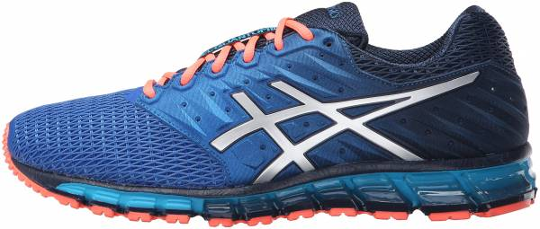 Asics Gel Quantum 180 2 men dark navy/silver/flash coral