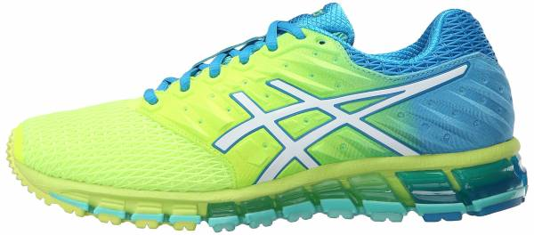 Asics Gel Quantum 180 2 woman safety yellow/white/blue jewel