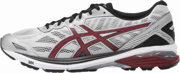 Asics GT 1000 5 men glacier gray/pomegranate/black