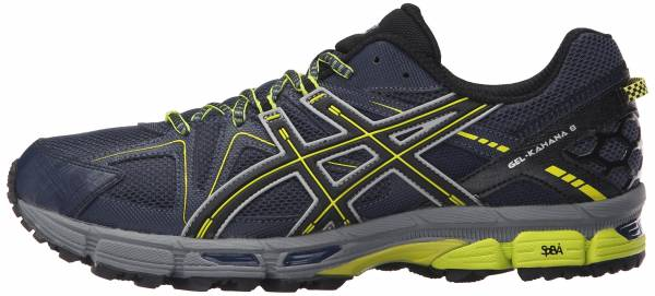 Asics Gel Kahana 8 men dark navy/black/sulphur spring