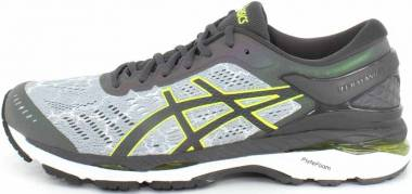 Asics Gel Kayano 24 Lite-Show - Grey Mid Grey Dark Grey Safety Yellow 9695 (T8A4N9695)