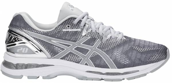 newest a4de7 2a2b4 Asics Gel Nimbus 20 Carbon Silver White
