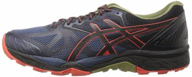 Asics Gel FujiTrabuco 6 - Insignia Blue/Black/Red Clay
