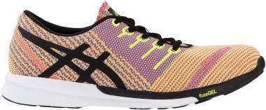 Asics FuzeX Knit - Flash Coral/Black/Safety Yellow (T879N0690)
