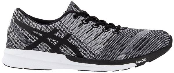 Asics FuzeX Knit - Carbon/Black/White