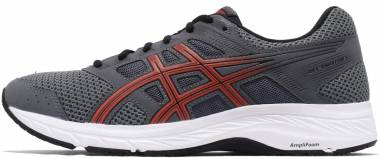 Asics Gel Contend 5 Steel Grey/Red Snapper Men