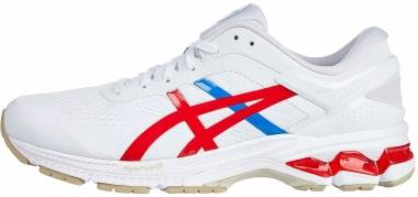Asics Gel Kayano 26 - White / Classic Red (1011A771100)