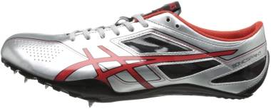 Asics SonicSprint - Silver Fire Red Black