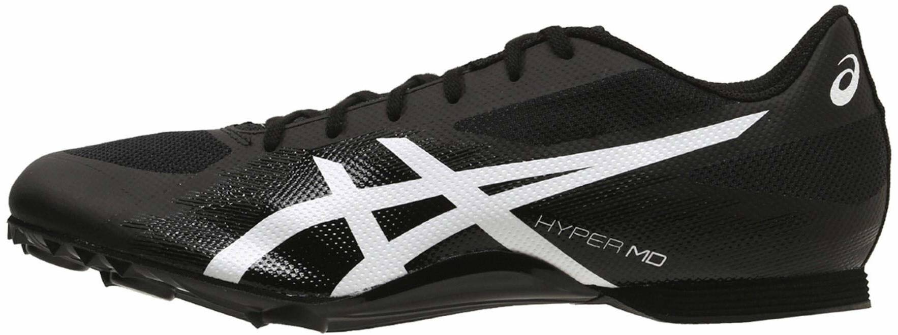 Asics Unisex Hyper LD 6 Running Spikes Traction Black Sports Breathable