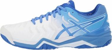 Asics Gel Resolution 7 - White/Blue Coast
