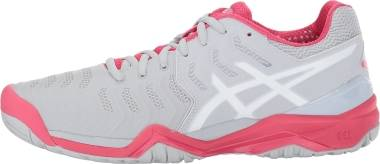 Asics Gel Resolution 7 - Glacier Grey/White/Rouge Red